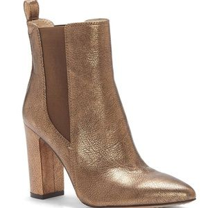 Vince Camuto Bronze leather booties Britsy size 9